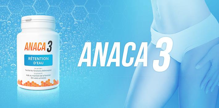 Anaca3 rétention d'eau en 60 gélules
