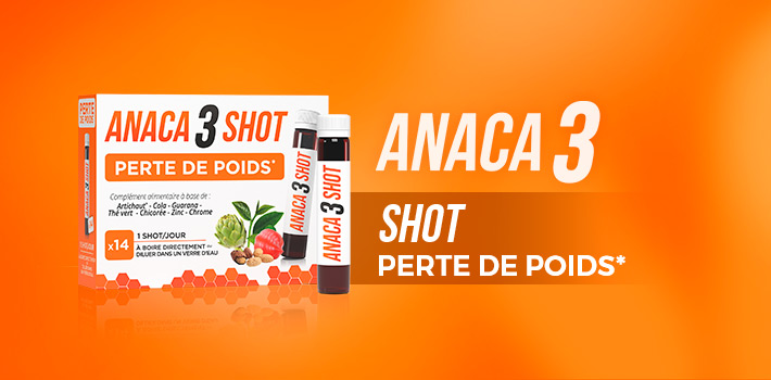 Anaca3 présente le shot perte de poids pour vous aider à perdre du poids